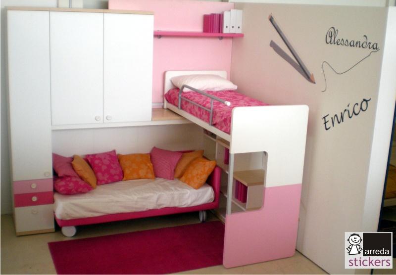Decorazioni Per Camerette Per Bambini : Arreda stickers partner di fabbrica camerette per decorare le