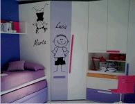 Decorazione Armadio Bambini : Adesivi murali per decorare le camerette per bambini comprali